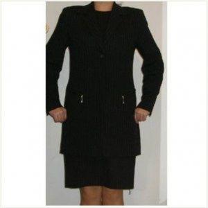 $710 Anne Klein Classic pinstripe Suitdress jacket